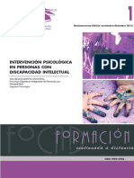 Discapacidad Intelectual-Intervencion Psicologica ( FOCAD-13)