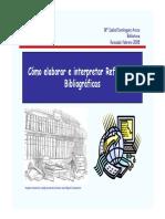 Como elaborar e interpretar referencias bibliograficas