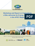 Workshop and Report on Implications of Bio-refineries for Energy and Trade in the Apec Region