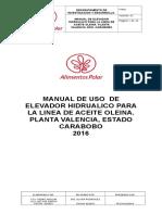 Manual de Uso Del Elevador Hidrualico