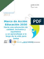 12. Marco de Accin Educacin 2030 Version Espanol