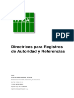 Directrices para registros de autoridad y referencias