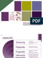 Explorarea Funcției Pulmonare