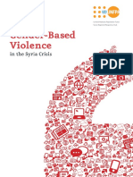 Reporting on Gender Based on Violence in the Syria Crisis