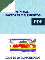 El Clima Factores