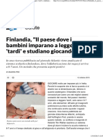Finlandia, _Il paese dove i bambini imparano a leggere 'tardi' e studiano giocando_ - Repubblica.pdf