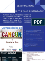 benchmarking carrera- turismo sustentable