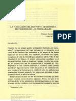 1992 La Fundacion Convento Comitan Testimonios Tojolabales