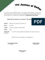 La Iglesia Profética Monte Sinaí y Sus Partir José Miranda Le Hace Una Atenta Invitación a Que Te Unas a Una Campaña de Tres Días de Avivamiento Promovida Por La Sociedad de Embajadores