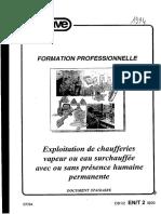 Exploitation de Chaufferie APAVE 1994