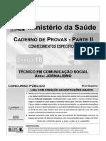 Cespe 2010 Ms Tecnico-De-comunicacao-social-jornalismo Prova