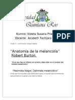 Anatomia de la melancolía.