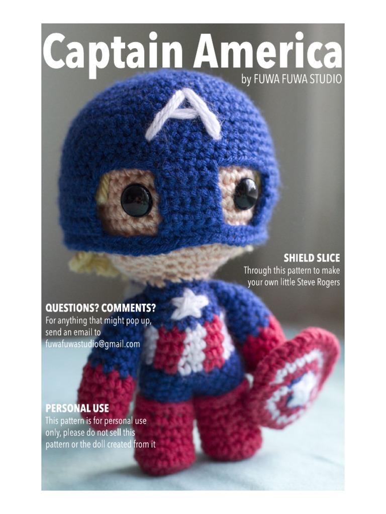 Amigurumi Captain America Pattern Amigurumi Crochet