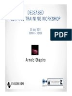 Arnold Shapiro Administration of Small Estates Training Workshop