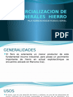 7 Comercializacion de Minerales Hierro