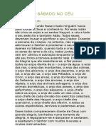 21 - O SÁBADO NO CÉU