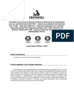Manual Operacion Autoclaves Cristofoli
