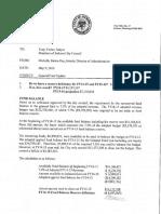 May 9 Budget memo, proposed cuts
