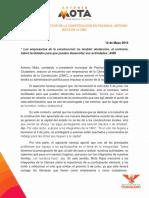 Boletín - Privilegiar al sector de la construcción en Pachuca