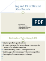 Advertising and PR of Oil and Gas Brands