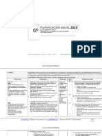 Planificacion Anual Lenguaje 6basico 2015