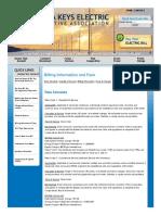 Florida Keys El Coop Assn, Inc - Rate Schedule