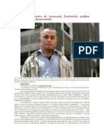 Nuevo Ministro de Economía Productiva publica artículo tras ser juramentado.docx