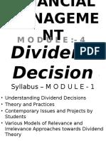 m o d u l e - 4 - Dividend Decision