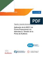 IAASB QA AplicaciAn de La NICC1 de Forma Proporcional a La Naturaleza y TamaAo de La Firma de AuditorAa