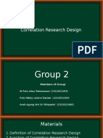 Correlational Research Design