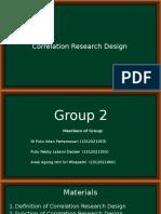 Correlational Research Design