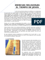 Tema 04 - Tendencias Religiosas en Tiempo de Jesucristo