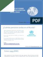 Estadísticas sobre personas sordas en el Perú