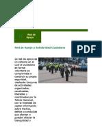 Decreto y Red de Apoyo a La Policia Nacional