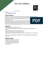 Piano Lab Syllabus 2016 - PDF