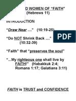 Qualities of Faith