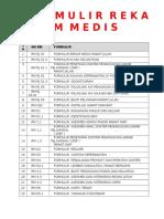 Cek List Formulir Rekam Medis