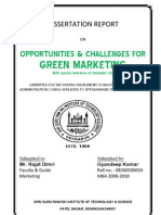 Dissertation Report on Opportunity & Challenges for Green Marketing {by GYANDEEP}