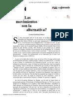 La Jornada_ ¿Las Movimientos Son La Alternativa