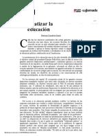La Jornada_ Privatizar La Educación