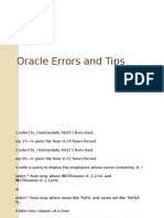 Oracle Tips and error