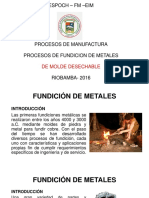 Moldes Desechables Fund. Metales