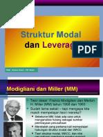 Capstruc Struktur Modal & Leverage Nov 2013 Reg B Malam