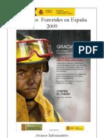 Avance Informativo Incendios Forerstales 2009