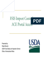 Mainageable Fsis Import