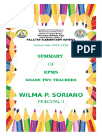 Clearance of Grade Two Teachers Cover Page.