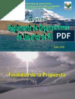 Reglamento de Organizaciones de Usuarios de Agua de Riego