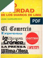 Mito Y Verdad de Los Diarios de Lima. Juan Gargurevich. Páginas 49-65. Editorial Gráfica Labor. 1972