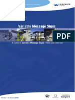 A Guide to Variable Message Signs (VMS)and Their Use
