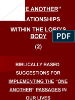 One Another Relationships Within the Lord's Body 2 P. P.